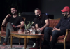 "Mustafa Panshiri, Hanif Bali och Hamid Zafar. Foto: ""Hur kan vi"", april 2019"
