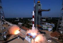 "PSLV C45 Emisat Mission ""take off"". Foto: isro.gov.in"