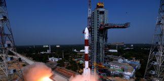 """PSLV C45 Emisat Mission """"take off"""". Foto: isro.gov.in"""