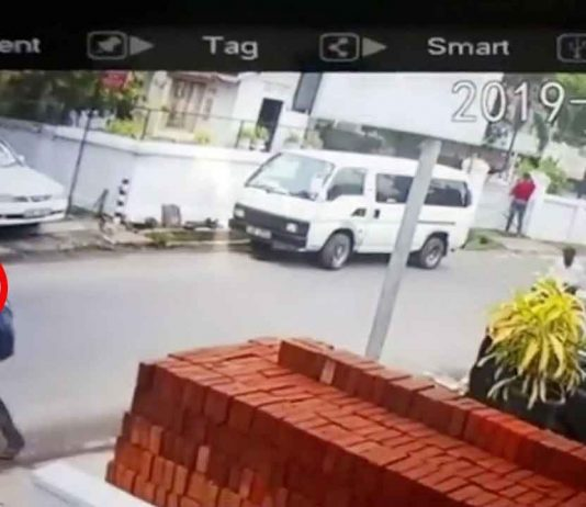 IS-jihadister på Sri Lanka 21 april 2019. Filmsekvens tillhandahållen av Sri Lankas myndigheter