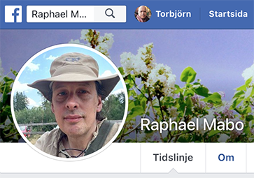 Raphael Mabo på Facebook