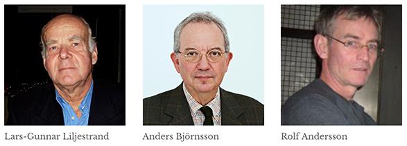 Lars-Gunnar Liljestrand, Anders Björnsson och Rolf Andersson. Pressfoto: Alliansfriheten.se