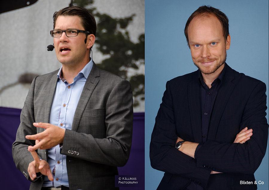 Jimmie Åkesson, Svergiedemokraternas partiledare, valtalar på