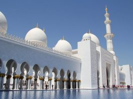 Sheikh Zayed Mosque Mosque. Foto: FritzDaCat. Licens: CC BY-SA 3.0, Wikimedia Commons