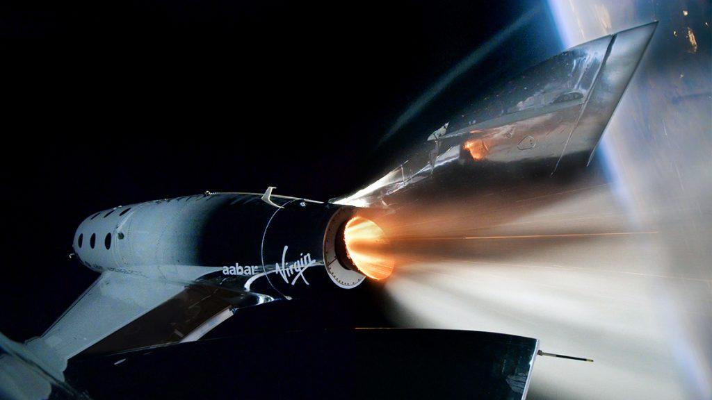 VSS Unitys första rymdresa. Pressfoto: Virgin Galactic
