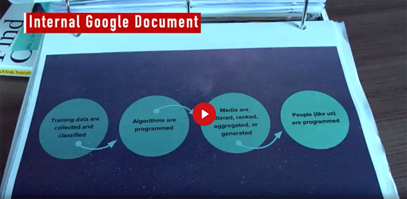 Google internal documents. Foto: Project Veritas