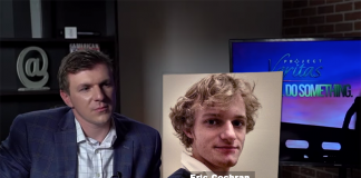 James O'Keefe från Project Veritas och Eric Cochran från Pinterest. Montage: NewsVoice