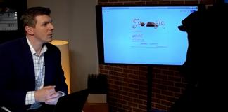 James Okeefe med en Google-visslare den 24 juni 2019. Foto: Project Veritas