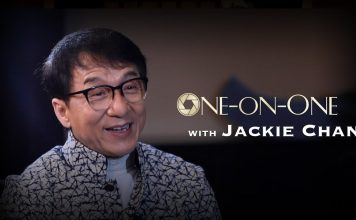 Jackie Chan. Foto från CGTN:s YouTube-kanal