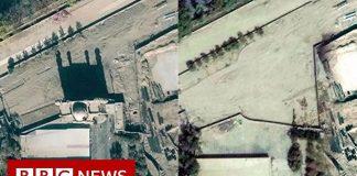 Kina omskolar muslimer och river moskéer i Xinjiang. Foto: BBC News, 2019