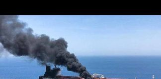 Oil tanker in Gulf of Oman. Photo: CGTN - The World Today