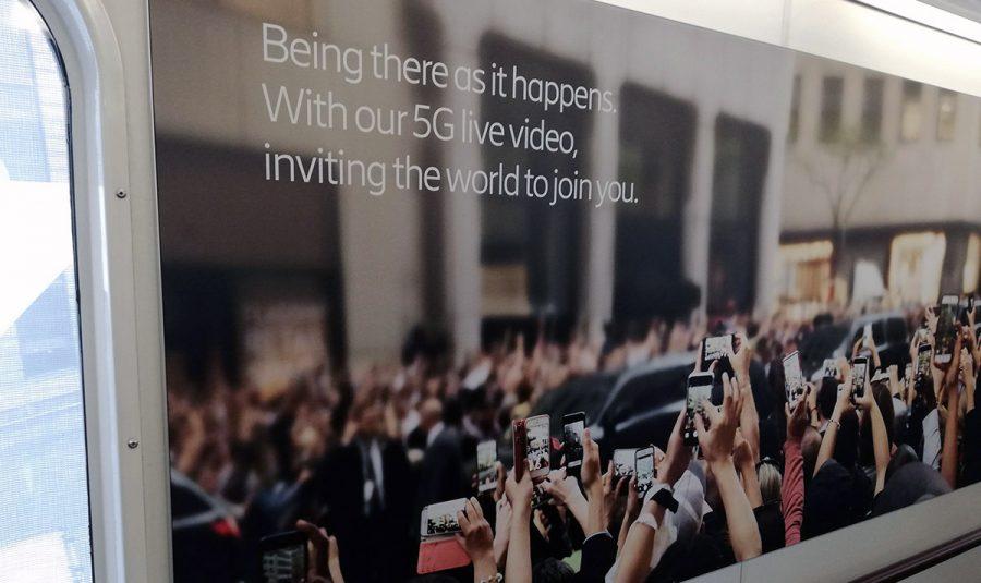 5G reklam från Ericsson, 13 maj 2019, Arlanda. Foto: NewsVoice.se