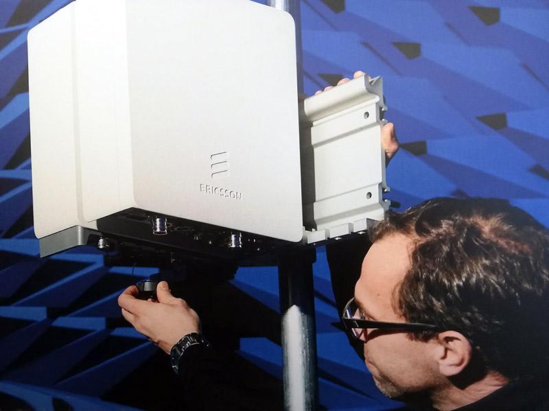 5G-sändare från Ericsson, 13 maj 2019, Arlanda. Foto: NewsVoice.se