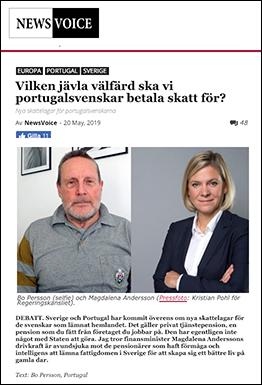 """Bo Persson: """"Vilken jävla välfärd ska vi portugalsvenskar betala skatt för?"""" - NewsVoice"""