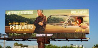 Epstein och Polanski på en reklamtavla i Hollywood. Foto: Hollywood Reporter