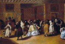 il Ridotto - Målning av Francesco Guardi (1712-1793)