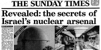 Israel's nuclear arsenal. The Sunday Times, 5 oktober 1986