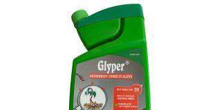 Ogräsmedlet Glyper (innehåller glyfosat). Produktfoto