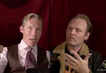 Henrik Jönsson och Jens Ganman. Foto:Champagne med Henrik