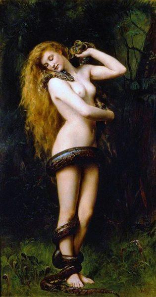 Lilith, målning av John Collier, 1892.