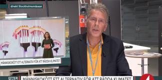 Magnus Söderström diskuterar kannibalism, 3 sep 2019. Foto: TV4 Efter fem