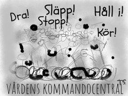 Vårdens kommandocentral. Illustration: Torsten Sandström
