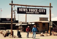 """News Voice City"". Foto: Xiang Gao. Licens: Unsplash.com (free use). Montage: NewsVoice.se"