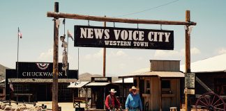 """News Voice City"". Foto: Xiang Gao. Licens: Unsplash.com (free use). Montage: NewsVoice.se"