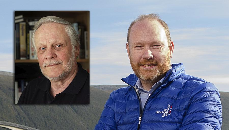 Historiker Christer Nilsson (foto: Johan Arvidsson) och Sigmund Bjørgo (foto: Norges sjömansråd).