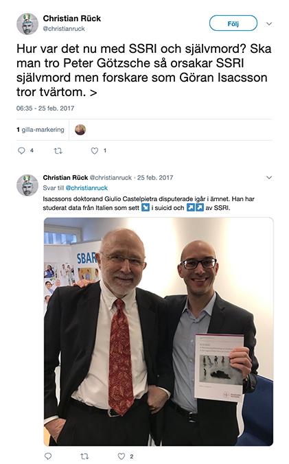 Göran Isacsson omnämnd på Twitter