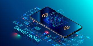 Ett smart hem kan styras från mobilen. Licens: Shutterstock.com