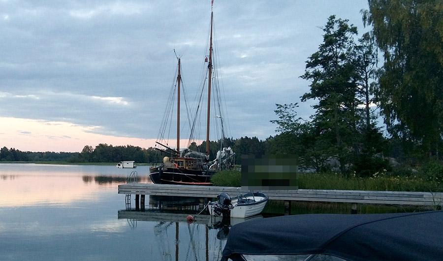 Skolskeppet Amalia på Muskö (2018). Foto: Torbjörn Sassersson
