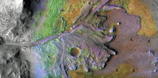 Jezero-Kratern på Mars. Illustration: NASA Jet Propulsion Lab