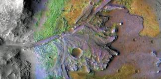 Jezero-Kratern på Mars. Illustration: NASA Jet Propulsion Lab