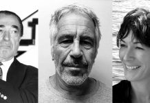 Robert Mawell, Jeffrey Epstein, Ghislaine Maxwell. Foto: David Fowler (Licens: Mostphotos), New York State Sex Offender Registry, Wikimedia Commons