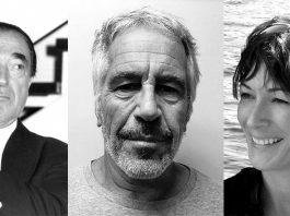 Robert Maxwell, Jeffrey Epstein, Ghislaine Maxwell. Foto: David Fowler (Licens: Mostphotos), New York State Sex Offender Registry, Wikimedia Commons