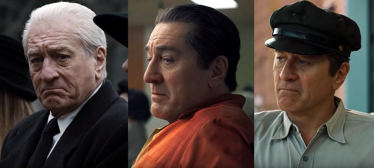 """Robert De Niro förvandlad till två yngre versioner i filmen """"The Irishman"""" Foto: Netflix.com"""
