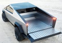 Tesla Cybertruck med flak. Foto: Tesla.com