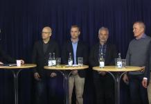 """Paneldebatt den 28 nov 2019 om de nya svenska nätmedierna. Foto: """"Nätverket""""."""