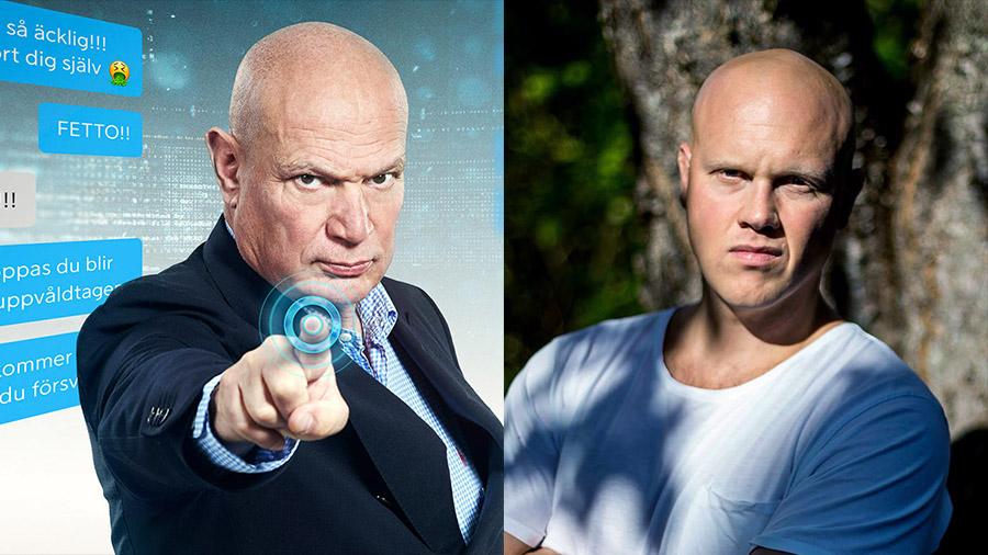 Robert Aschberg (reklamfoto från ViaPlay) och Jokaim Lamotte (privat foto). Montage: NewsVoice
