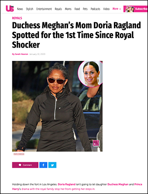 Doria Ragland, 2020. Source: USmagazine.com. Photo P&P / Mega