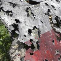 Flight MH17, bullet holes (Ukraine, 2014) - Photographer unknown