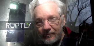 Julian Assange 13 jan 2020. Foto: Ruptly.com