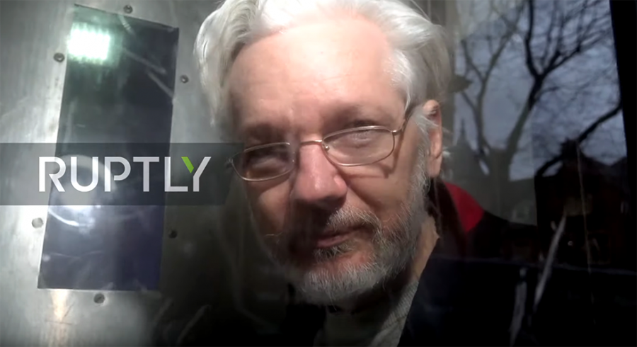 Julian Assange 13 jan 2020. Foto: Ruptly.com