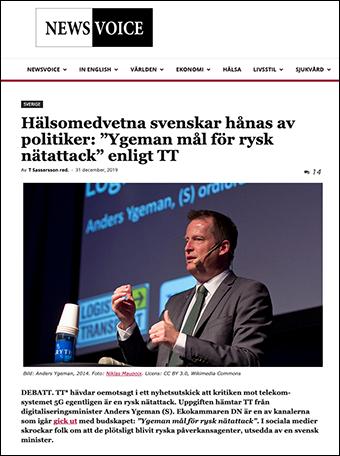 """Hälsomedvetna svenskar hånas av minister eller """"Ygeman mål för rysk nätattack""""?"""