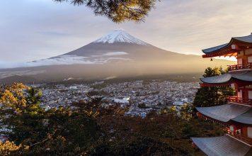 Vulkanen Fuji i Japan. Foto: Bewkaman. Licens: Pixabay.com