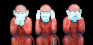 Tre apor. Foto: Dean Moriarty. Licens: Pixabay.com