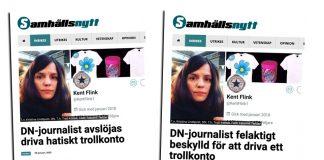 """Kristina Lidnqvist anklagas för att driva """"trollkontot"""" KentFlink1"""