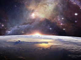Earth and the galaxy. Foto: Lumina Obscura. Licens: Pixabay.com