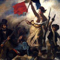 Liberalism och friheten på barrikaderna. Målning: Eugène Delacroix (1830)